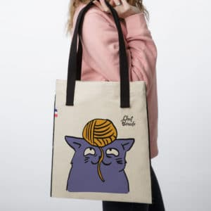 ChatBoude TOTEBAG 300x300 - Tote Bag tissu Chat Boude #1