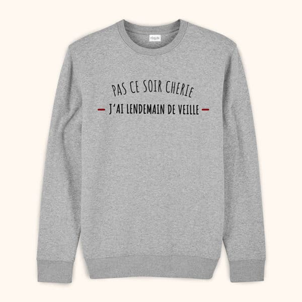 Sweat original homme J'ai lendemain