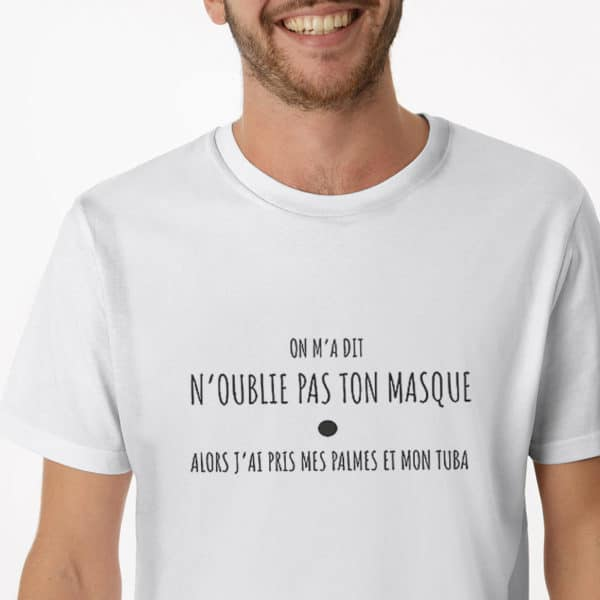 ON M A DIT H 600x600 - T-shirt imprimé Masque