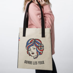 OUVRELES TOTEBAG 300x300 - Tote Bag tissu Ouvre les yeux