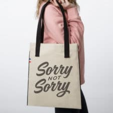 SORRY TOTEBAG 225x225 - Tote Bag tissu Not Sorry
