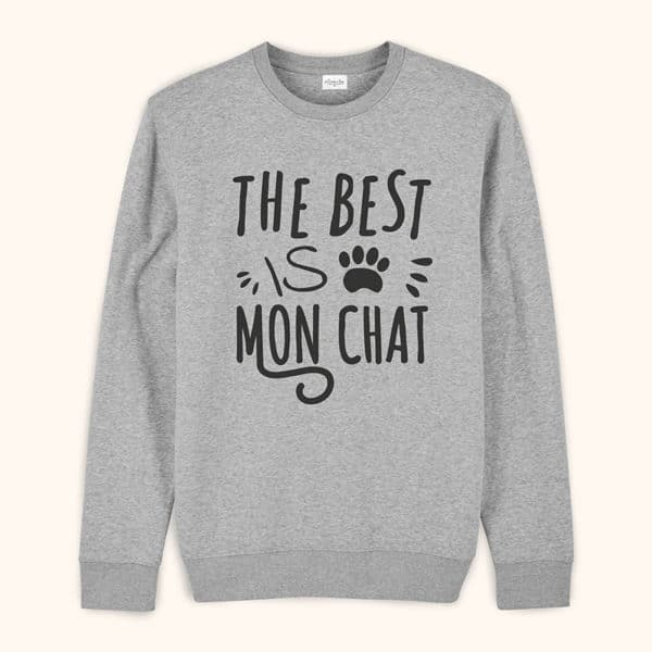 Sweat original homme The best mon chat