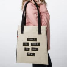 Sac tote bag en tissu What If