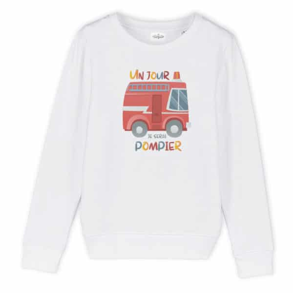 Sweat enfant original Pompier