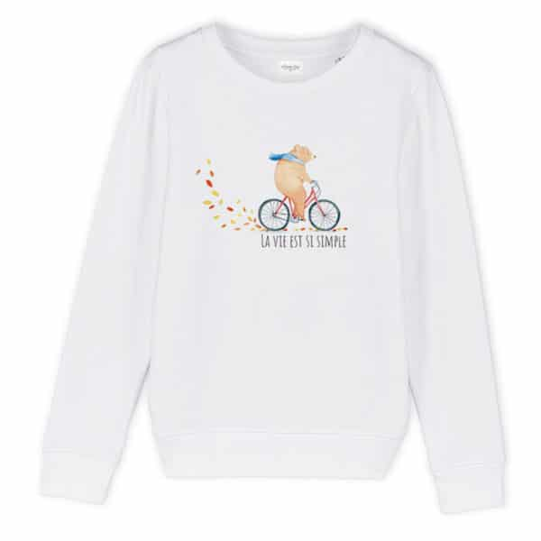 Sweat enfant original Si simple