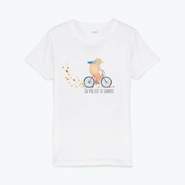 T-shirt enfant original Si simple
