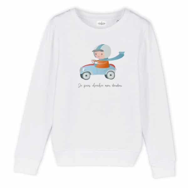 Sweat enfant original Voiture